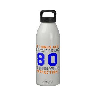 80 Perfection Birthday Designs Water Bottle
