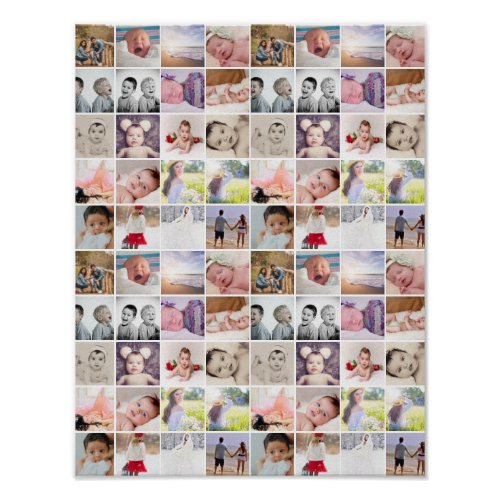 80 Photo Collage Personalized Poster