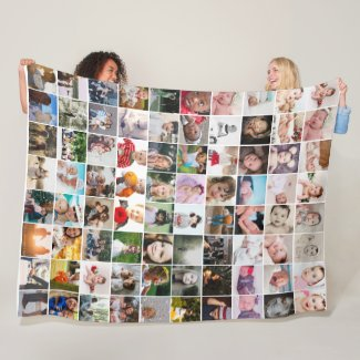 80 Photo Collage  Unique Personalized DIY Custom Fleece Blanket