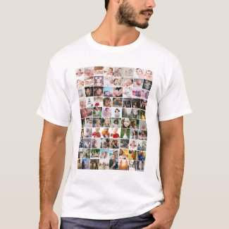 80 Photo Template Personalized Collage T-Shirt