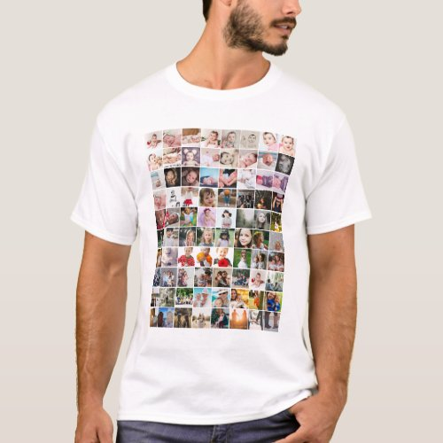 80 Photo Template Personalized Collage T_Shirt