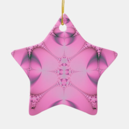 80 Pink Abstract Ceramic Ornament