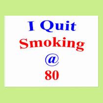 80  Quit Smoking Postcard