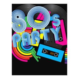 "80 Retro Party 8.5"" X 11"" Flyer"