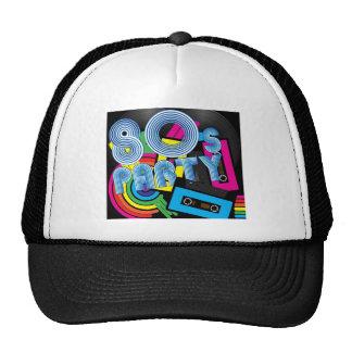 80 Retro Party Mesh Hats