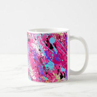 80 retro salpicadura de la pintura de s - rosa taza
