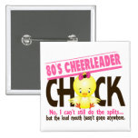80's Cheerleader Chick 2 Inch Square Button