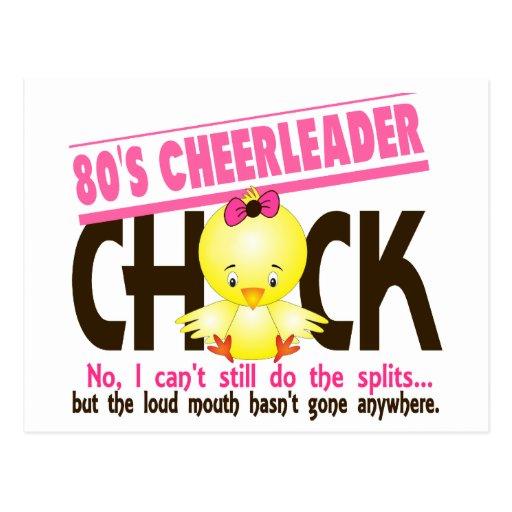 80's Cheerleader Chick Postcard