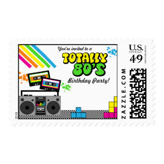 80 s Party Postage Stamp