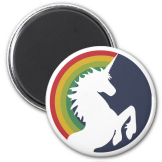 80 s Retro Rainbow and Unicorn Magnet Fridge Magnets