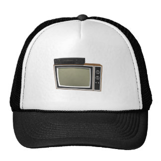 80 s Style TV and VCR 3D Model Hats