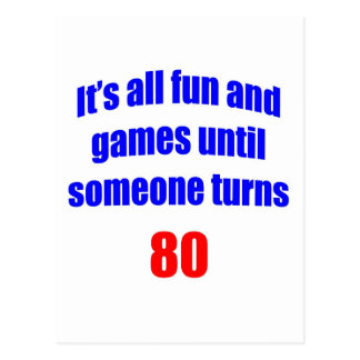 80 Someone turns 80 Post Cards