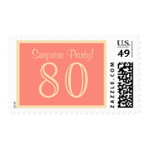 80 Surprise Party Postage - Salmon Cream