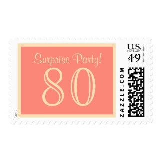 80 Surprise Party Postage - Salmon Cream