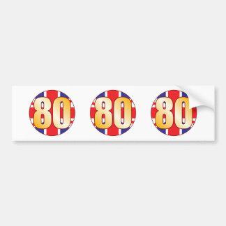 80 UK Gold Bumper Sticker