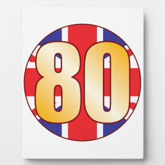 80 UK Gold Plaque