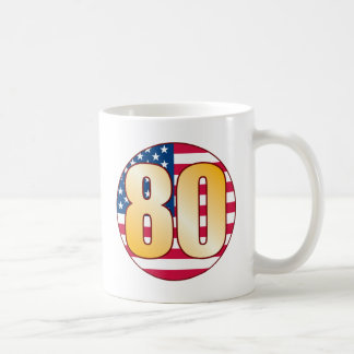 80 USA Gold Coffee Mug