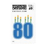 80 velas del cumpleaños (azul/verde)