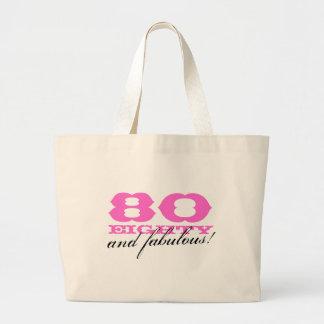 80 y la bolsa de asas fabulosa para el 80.o cumple