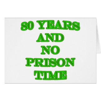 80 y ninguna hora de prisión tarjeta