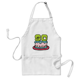 80 Year Old Birthday Cake Adult Apron