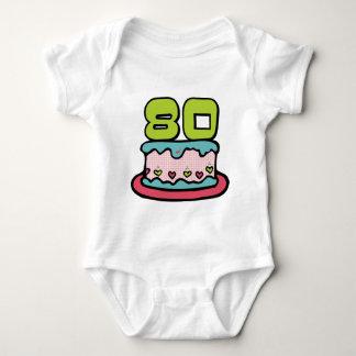 80 Year Old Birthday Cake Baby Bodysuit