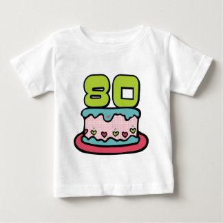 80 Year Old Birthday Cake Baby T-Shirt