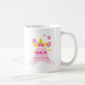 80 Year Old Birthday Cake Coffee Mug