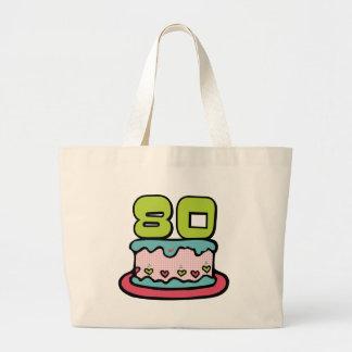 80 Year Old Birthday Cake Large Tote Bag