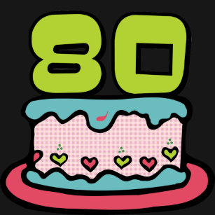 80 Year Old Birthday Cake T Shirt