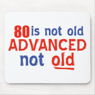 80 year old birthday designs mouse pad