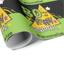 80 Year Old Party Animal Birthday Wrapping Paper