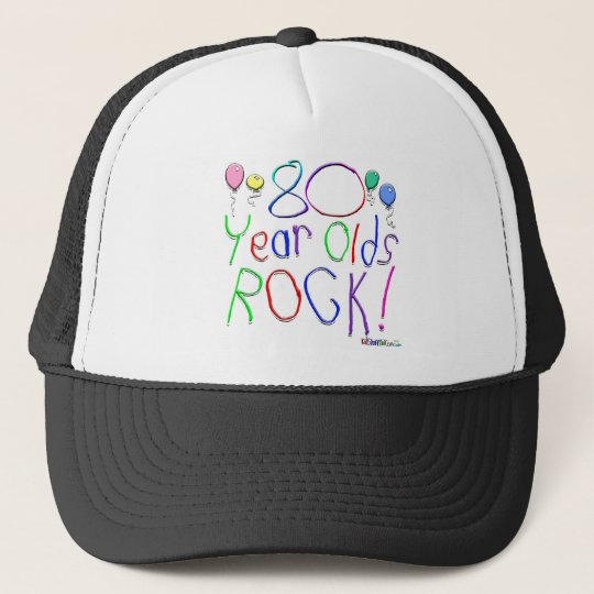 80 Year Olds Rock! Hat