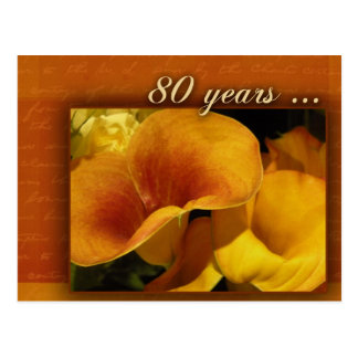 80 years and counting post card