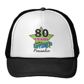 80 Years and Loving it | 80th Birthday | DIY Name Trucker Hat