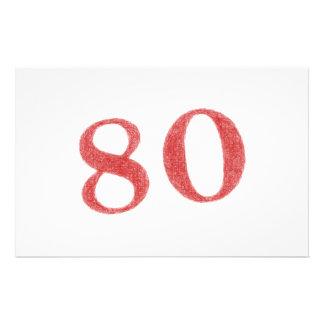 """80 years anniversary 5.5"""" x 8.5"""" flyer"""