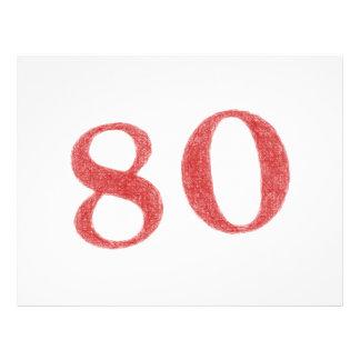 """80 years anniversary 8.5"""" x 11"""" flyer"""