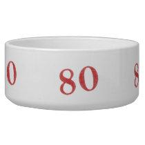 80 years anniversary bowl