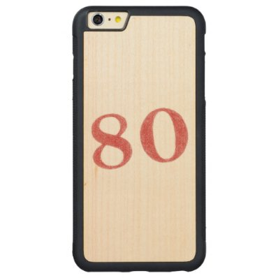80 years anniversary carved® maple iPhone 6 plus bumper case