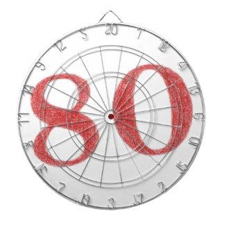 80 years anniversary dart board