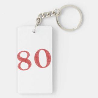 80 years anniversary keychain
