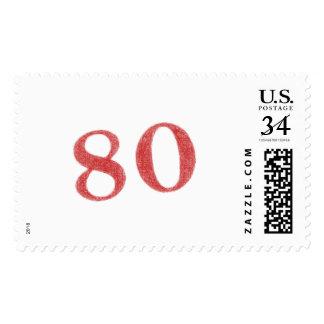 80 years anniversary postage