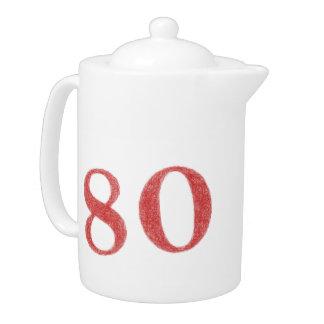 80 years anniversary teapot