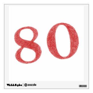 80 years anniversary wall sticker