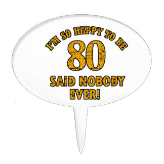 80 years design cake topper