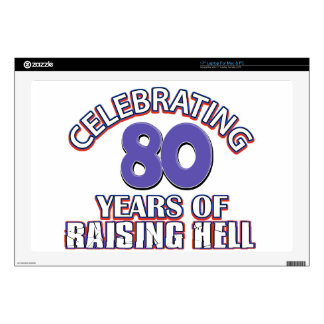 """80 years of raising hell skins for 17"""" laptops"""