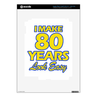 80 YEARS OLD BIRTHDAY DESIGNS iPad 3 DECAL