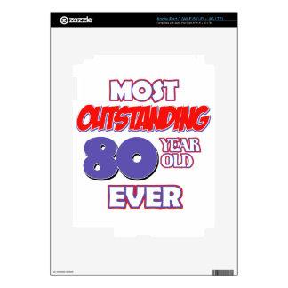 80 YEARS OLD BIRTHDAY DESIGNS iPad 3 SKIN