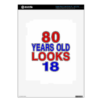 80 Years Old Looks 18 Decal For iPad 3