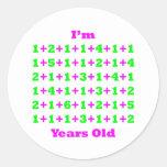 80 Years Old Magenta Gr Round Sticker